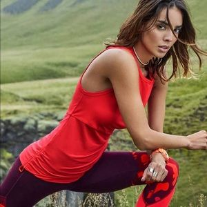 Fabletics Red side cinch tank